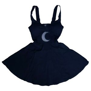 Restyle-Gothic-Occult-Horror-Punk-80s-Black-Shape-of-the-Moon-Dress-Size-XXL-2X