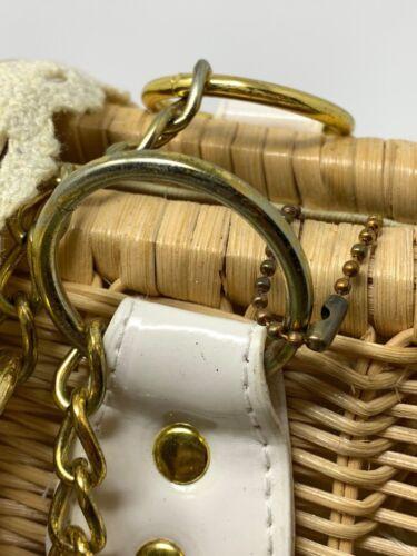 Women/'s Natural Straw Crossbody Handbag Rattan Bag