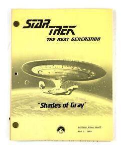 """STAR TREK:TNG ORIGINAL SCRIPT- """"Shades of Gray,"""" by Hurley, Manning, Beimler"""