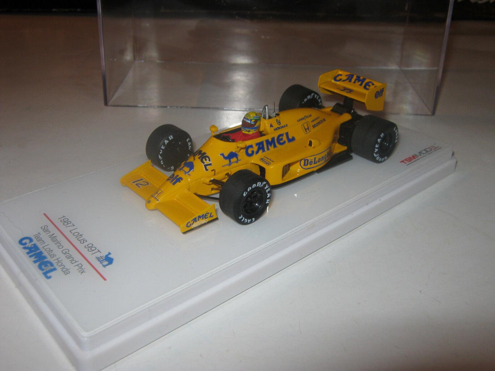 1 43 LOTUS HONDA 99t A. Senna 1987 rebuilt rimodellamento FULL TOBACCO TSM MODEL OVP