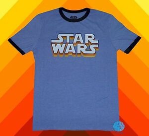 New star wars mens ringer vintage classic t shirt ebay for Vintage star wars t shirts men