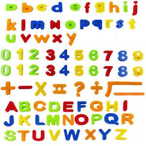 Magnetic Colorful Letters Numbers Symbols Kids Learning Toy Spelling Sum 80pcs