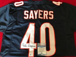 best sneakers d2200 735f5 Details about 100% BAS Authentic Autographed NFL Jersey GALE SAYERS Chicago  Bears Signed Auto