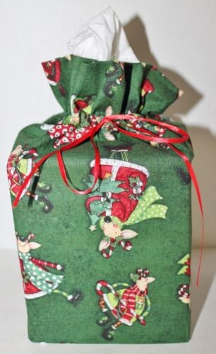 Fabric Handmade Square Tissue Box Cover Cotton College Sports Holiday Floral