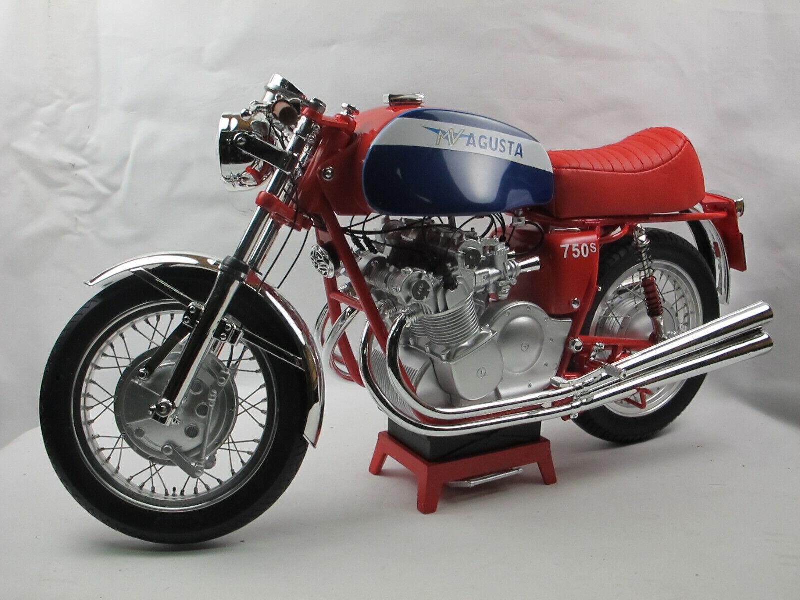 VMB 1972 MV AGUSTA 750 S Rouge Bleu Moto Modèle Résine 1 6