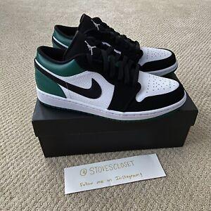 Details about Nike Air Jordan 1 Low Mystic Green White Black Size 10 553558-113