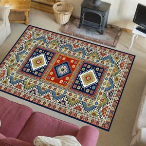 Teppich Stylisch Vintage Retro Look Nordisch Wohnzimmer Aras Blau