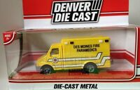 Menards Denver Diecast 1:50 Scale Diecast Des Moines Iowa Fire Dept Ambulance
