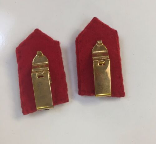 Gorget Patch-Clip On Army General Staff 1 Pair
