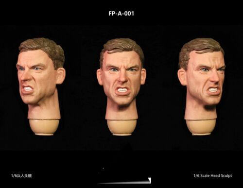 "1//6 Facepoolfigure FP-A-001// FP-S-001 Men Expression Head Sculpt F 12/"" Male Body"