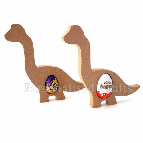 Free Standing Pâques Dinosaure CREME œuf//Kinder Egg Holder MDF Shape
