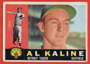 1960 Topps #50 Al Kaline VG-VGEX CREASE MARKED HOF Detroit Tigers FREE SHIPPING