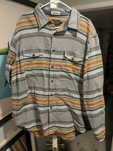 Pendleton-Surf-Blanet-striped-style-button-front-board-shirt-style-cotton-EUC-XL