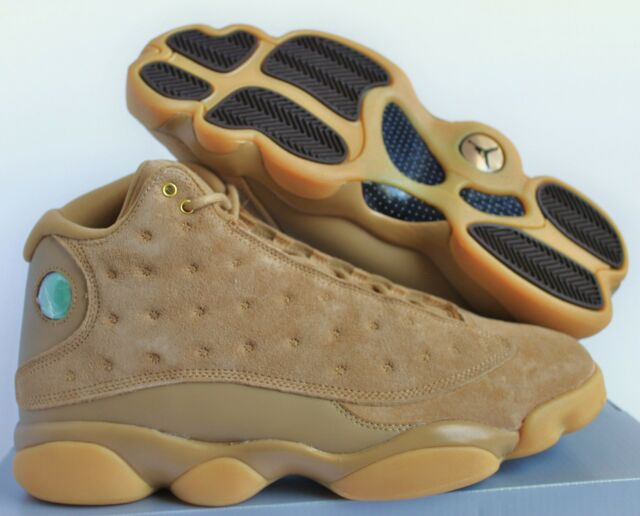 c8eac7236333 Air Jordan 13 Retro Wheat XIII Aj13 Men SNEAKERS Gold Brown 414571 ...