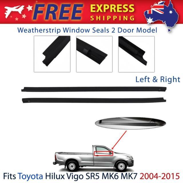 Door Seal Weatherstrip Rubber Belt Front Fits 2004-2015 Toyota Hilux 2-Door Ute