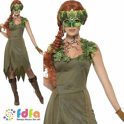 FOREST NYMPH FAIRY PIXIE ADULT IVY - UK 8-18 - womens ladies fancy dress costume