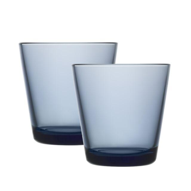 Iittala Kartio Trinkglas - regenblau - 21cl - 2er Set