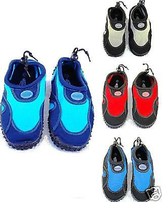 BOYS INFANT BEACH WETSUIT AQUA SHOES 5 6 7 8 9 10 11 12 13 BLUE RUSH AQUA SHOES
