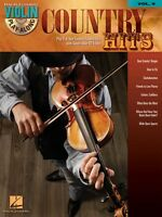 Country Hits Sheet Music Violin Play-along Book And Cd 000842231