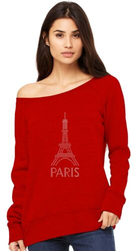 Eiffel Tower Paris Bastille Day French Patriot Gift Off shoulder sweatshirt