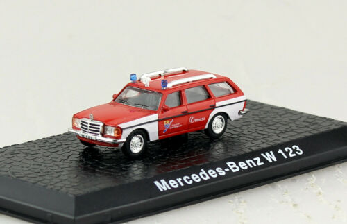 Mercedes Benz W123 Feuerwehr Atlas 1:72 Modellauto