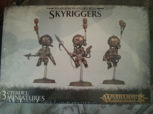 WARHAMMER AGE OF SIGMAR KHARADRON OVERLORDS SKYRIGGERS - NEW & SEALED