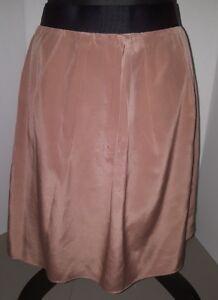6398ae190 Women's J CREW Beige Silk Career size 6 Knee Length Pencil Skirt ...