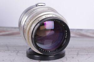 Jupiter-9-85-mm-2-1-Silber-RF-Contax-Kiev-mount-basierend-auf-Sonnar-Objektiv
