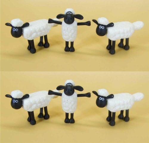 LOT OF 6 TM AARDMAN Shaun the Sheep MINI FIGURE 2 LOOSE