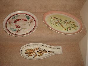 Image is loading vintage-denby-stoneware-hand-painted-G-Colledge-3- & vintage denby stoneware hand painted G Colledge 3 x plates including ...