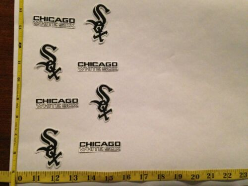 8 Chicago White Sox Rare OOP Fabric Applique Iron On Ons