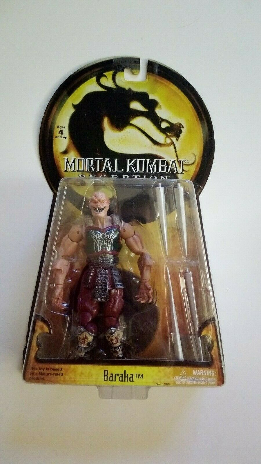 Seltene Mortal Kombat Baraka Figur von Jazwares  Neu & Ovp