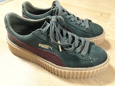 newest collection 4e34d 929b7 Puma X Rihanna Suede Fenty Creepers Green Bordeaux Gum Women's Size US7.5  UK5 | eBay