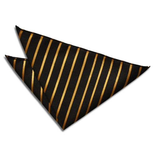 Men/'s Single Stripe Woven Evening Wedding Work Handkerchief Pocket Squares