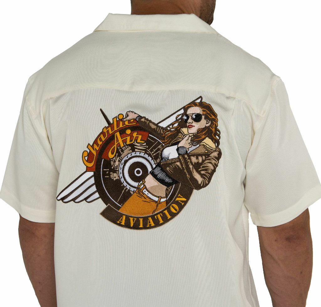 Charlie Air - Charlotte Aviation Embroidered Logo Button Down Shirt
