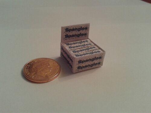 Dulces Para Dollshouse Miniatures Cool Ice 1//12 Scale-Caja De Lentejuelas