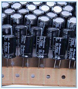 2200uf 10v NCC Radial Electrolytic Capacitors  Lxz 10v2200uf Low ESR 10pcs