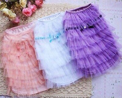 Good Dog Puppy Pet Apparel Princess Cake Lace Dress 3 Colors Size XXS,XS,S,M,L