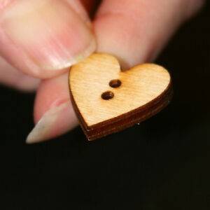 Heart Button - 3/4 x 3/4 with 2 2mm holes (BUTN03)
