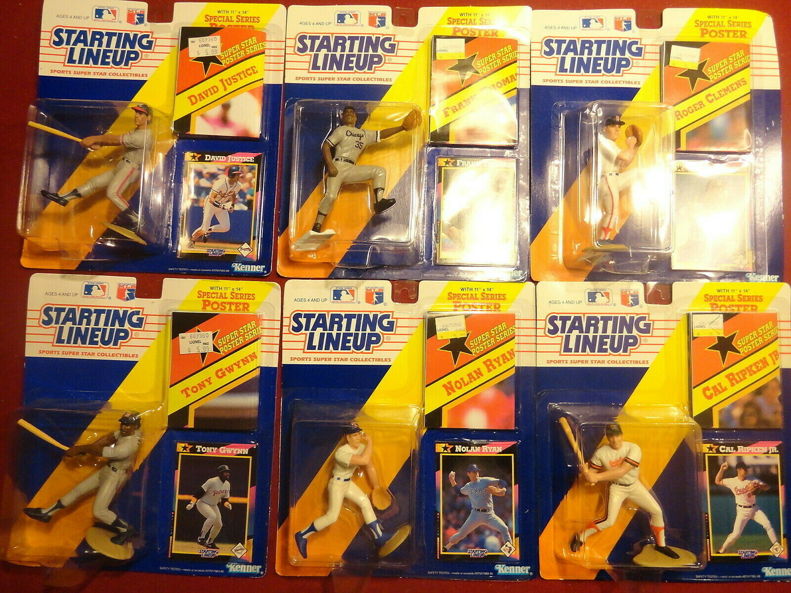 Huge Lot of 36 Starting Lineup Baseball Figurines New in Box - Griffey, Ripken