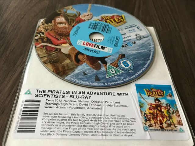 The Pirates! In An Adventure With Scientists (Blu-ray, 2012) DISK ONLY