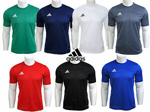 Boys Adidas Climalite Crew Training Gym Football T Shirt Top S M L XL XXL Mens