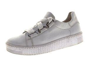 Gabor Damen Schuhe Sneaker Laufschuhe Freizeitschuhe Gr 38 Weiß Leder