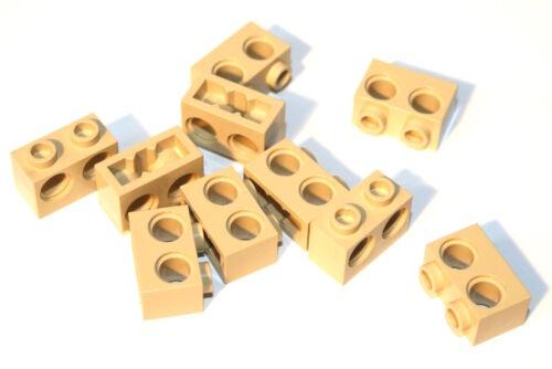 10x LEGO® Technic 32000 Stein 1x2 mit 2 Löchern NEU Beige Tan