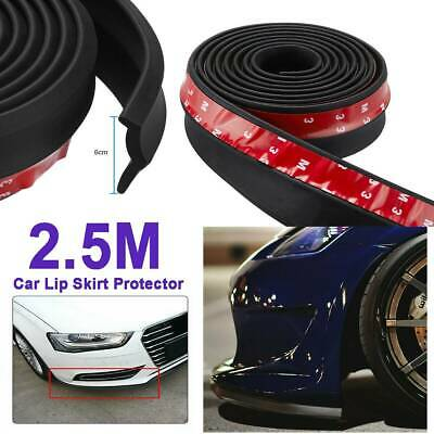 """100/"""" Rubber Splitter Lip Skirt Protector Car Front Bumper Spoiler Side Chin Lip"""