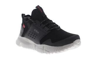 Skechers-Highmont-51904-Homme-en-daim-noir-lacets-decontractees-Low-Top-Sneakers-Chaussures