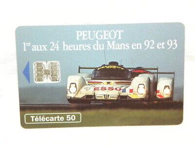 F397a Rare Telecarte Publique France Peugeot 905 Puce 50 Sc7 En Utilise Luxe