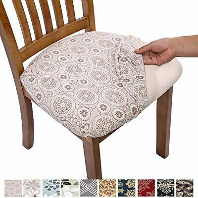 Stretch Printed Dining Chair Seat Covers, Removable ...