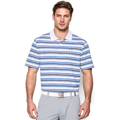 New With Tags Mens Top Tee Under Armour Muscle Golf Polo Shirt Stripe Solid