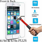 9H Tempered Glass screen protector 4H film Apple iPhone 6 6s & Plus front back